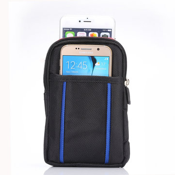 6.3 Inch Universal Dual Pocket Waist Bag Wallet Pouch Digital Product Organizer For Hiking Climbing