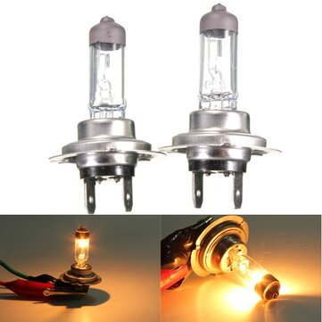2pcs Motorcycle Car H7 12V 55W 3800K Yellow XENON HID Halogen Headlight