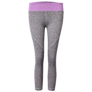 Mujer Sports Yoga Pantalones Medias de ejercicio para correr Pantalones de compresión Gym Delgado Leggings