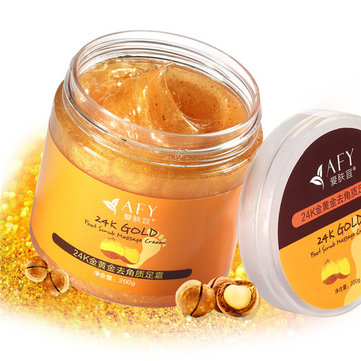 AFY 24K Gold Dead Skin Remover Foot Cream Scrub Exfoliating Horny Repair Moisture Feet Care