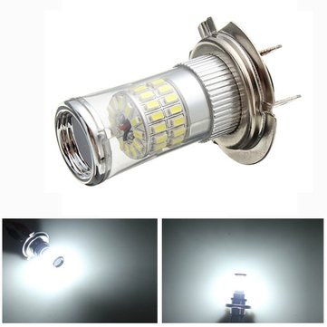 H7 3014 48SMD LED Car White Fog Light Bulb Headlight DRL 600LM 4.8W