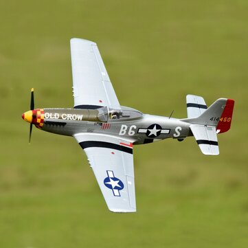 "Eleven Hobby P-51D P51D Mustang Old Crow 1100mm 43"" Wingspan PNP"