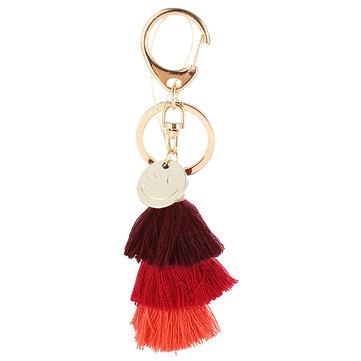 Gold Tassel Color Gradient Handmade Smile Face Key Chain For Bags
