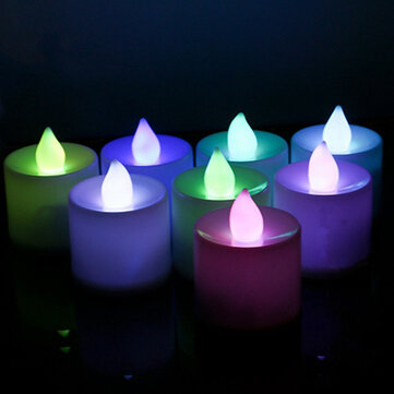 LED Flickering Electronic Colorful Candles Light Candle Christmas Holiday Decoration