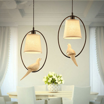 E14 Modern Creative Bird Pendant Light Restaurant Living Room Bedroom Ceiling Hanging Lamp Fixture