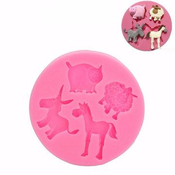 Mammiferi Animali silicone del fondente della muffa del cioccolato del polimero di muffa