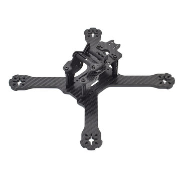 Realacc X210 Pro 214mm 3K Carbon Fiber FPV Racing Frame RC Drone 4mm Frame Arm w/ LED Board 5V & 12V PDB