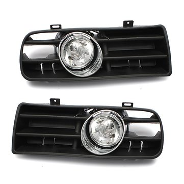 Car Front Fog Light Lamp Grille Set For VW GOLF 1998-2005 Black