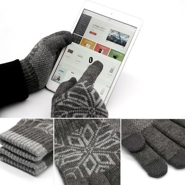 Originele Xiaomi Heren Handscherm Wollen Handschoenen Stretchy Soft Warme Breien Winter Handschoenen Voor iPhone Samsung