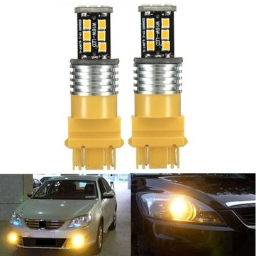 2x 3157 High Power 15W 2835SMD LED Rear Turn Signal Light Indicator Bulbs Amber Yellow