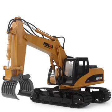 HuiNa 570 2.4G 1/12 RC Excavator 16 Channels Metal Plastic RC Car Model Toys