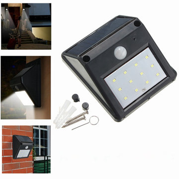 12 led solar powered pir motion sensor light outdoor garden security 12 led solar powered pir motion sensor light outdoor garden security wall light aloadofball Images