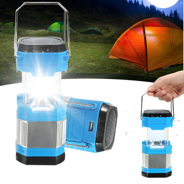 30 Led Stretchable Camping Tent Lantern Solar USB Rechargeable Emergency Light