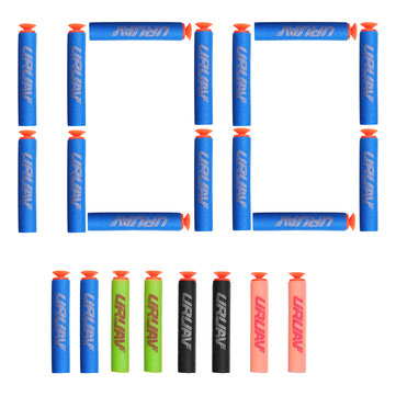 URUAV 100PCS Refill Bullets Dart Part For Nerf N-strike Elite Rampage Retaliator Suction Cup Head Toy