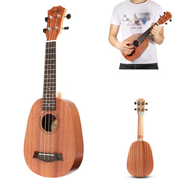 21 pouces Soprano Pinapple Mahkany Ukulele 4 cordes Hawaii Mini Guitar Children Gift