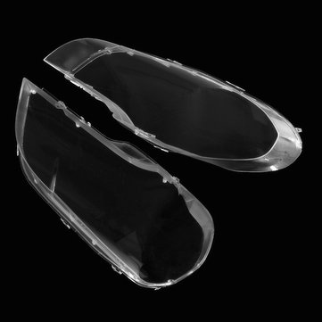 Car Headlight Cover Clear Plastic Lens Lampshade Pair for BMW X5 E70 2008-2013