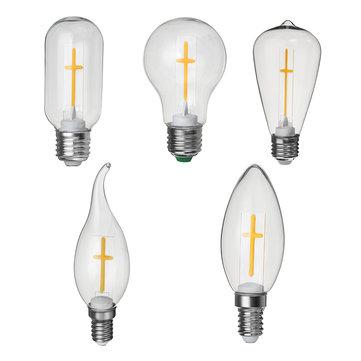 E27 E14 2W 4W A60 T45 ST64キャンドルプルテールウォームホワイトクロス白熱電球AC180-265V