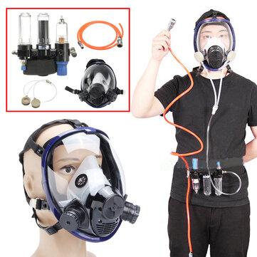 3 en 1 Función Suministrado Sistema de alimentación de aire Respirador 6800 Cara completa Gas transparente Mascara