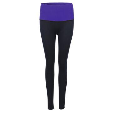 Women High Elastic Shaping Nine Pants Quick-dry Sport Leggings