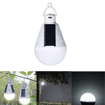 Solar Powered 9W E27 18 LED Bulb Camping Lantern USB Rechargeable for Outdoor Tent Fishing
