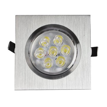 3W/5W/7W/12W One Head Sliver LED Square Ceiling Recessed Light Down Light 85-260V