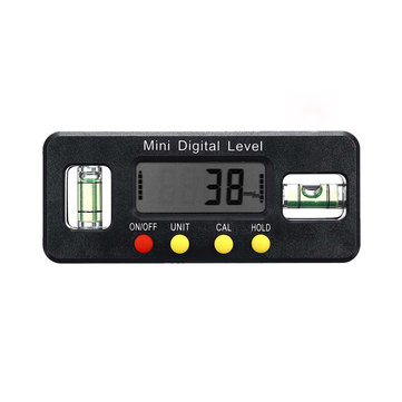 4×90° Spirit Level 0.1° Resolution Digital Angle Ruler Angle Measuring Instrument Protractor Angle Finder Gauge Meter Bevel