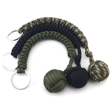 IPRee® EDC Paracord Keychain Key Ring Outdoor Tactical Safety Rope Camping Survival Tools Kit