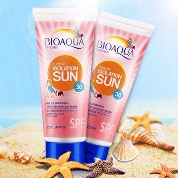 BIOAQUA Solarium Isolation Sunscreen Cream Whitening Sun Block Sport Waterproof Sun Lotion