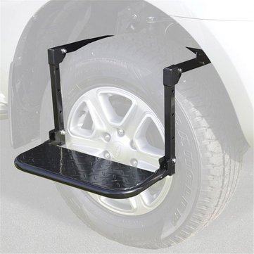 Metal Tire Wheel Step Folding Pedal Stair Ladder for Car SUV MPV Roof Racks Bike Luggage