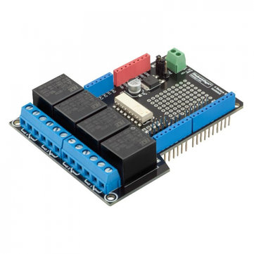RobotDyn® 4 Relay Shield Uno Module For Arduino 400mA 6-12V For Motors Pumps
