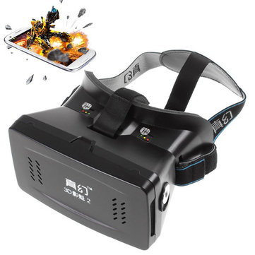 RITECH II Head Mount 3D Version Virtual Reality Glasses Google Movies Games for 3.5 to 6 Inch Smartphone