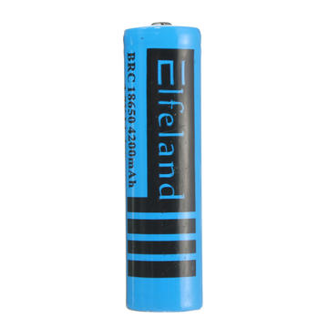 1pcs Elfeland 3.7v 4200mAh 18650 Rechargeable Li-ion Battery Blue