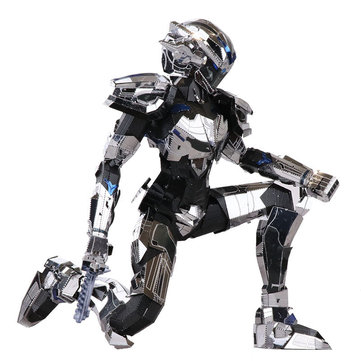 MU DIY Jigsaw Puzzle 3D Metal Robot Model Nano Core Bader For Kids Children Gift Model Toys