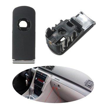 Chrome Glove Box Lock Lid Handle With Hole Dark Grey For Audi A4 8E B6 B7