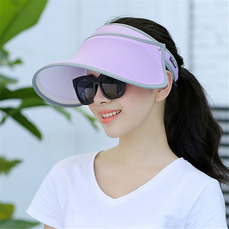 Women Summer Outdoor UV-Protection Sun Hat Travel Climbing Beach Visor Hat