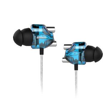 SOMIC V4 Double In-ear Dual Dynamic Drivers Separated Cavity HIFI Headphone Earphone