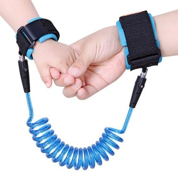 PU&Staineless Steel Contraction Toddler Safety Harness Child Safty Wrist Link Anti Lost Child Belt