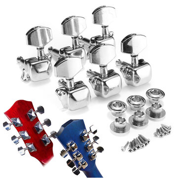 6Pcs Guitar String Tuning Pegs Semi-closed Tuner Heads for Acoustic Guitar