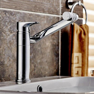 Bathroom Faucet 360 Degree Rotation Wash Basin Counter Basin Hot and Cold Mixer Taps