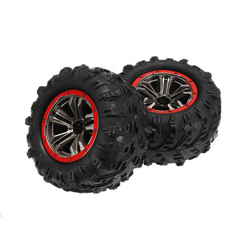 2PCS Hub Wheel Rim & Tires For 9125 1/10 2.4G 4WD RC Car Parts No.25-ZJ02