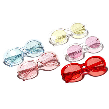 Women UV400 Lens Glitter Sun Protection Sunglasses