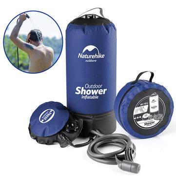 Naturehike 11L Camp Shower Water Bag Portable Inflatable Bath Pack Car Washing Pressure Faucet