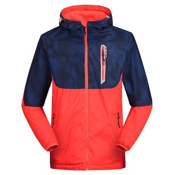 Mens Outdooors Waterproof Contrast Color Coat Soft Shell Jacket 3 Color Outwear