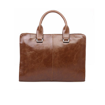 Leather Men Handbag Briefcase Laptop Business Leisure Shoulder Bag