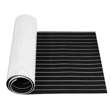230x90x0.5cm EVA Foam Black With White Lines Boat Flooring Faux Teak Decking Sheet Pad