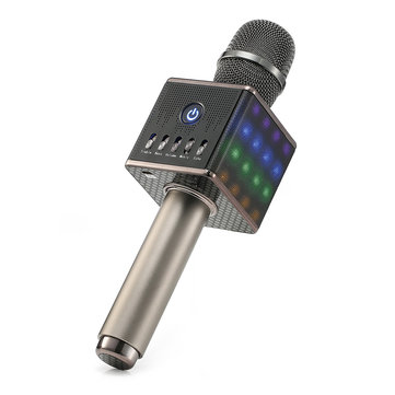 H8 LED Wireless Microphone Mic Built in Bluetooth Speaker Mini Handheld Cell Phone Karaoke Player