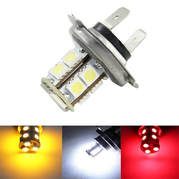 H7 5050 13SMD Car White Yellow Red LED Fog Daytime Running Light Bulb