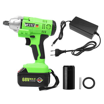 7.8Ah 68V Cordless Impact Wrench AC 100-240V Electric Wrench High Torque