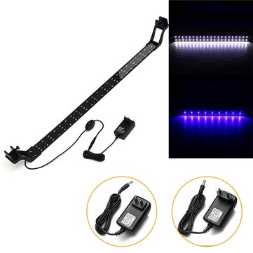 20W 73cm Blue & White LED Adjustable Aquarium Fish Tank Lamp Super Slim Clip On Light
