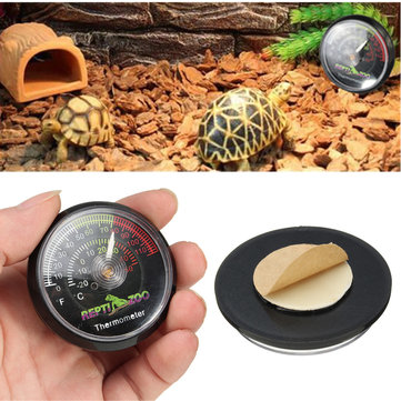Reptile Tortoise Vivarium Terrarium Temperature Meter Thermometer with Colour Codes